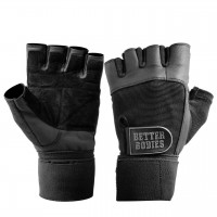 Перчатки Better Bodies Gym Wristwrap Gloves, Black